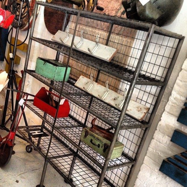 Industrial steel mesh shelving unit... H1800mm, W1520mm, D420mm