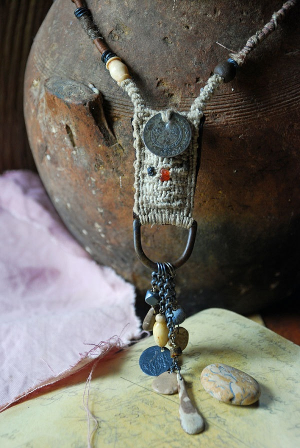 necklace phylactery - for protecting the road to your heart...infinitystop