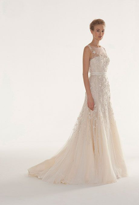 Brides.com: Fall 2013 Wedding Dress Trends. Trend: Floral Wedding Dresses. Gown by Langner Couture  See more Langner Couture wedding dresses in our gallery.