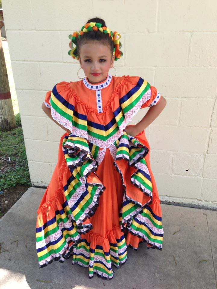 Folklorico dresses black and red