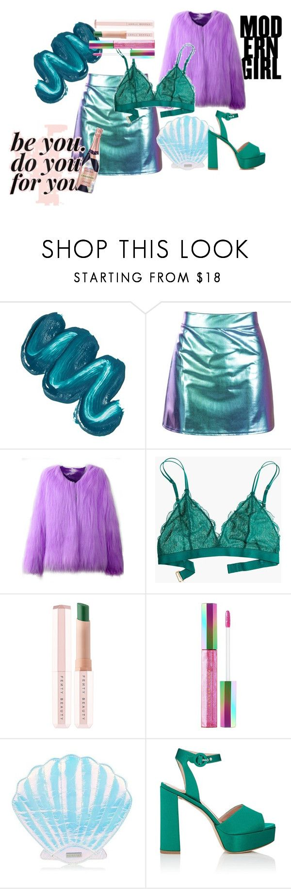 """""""Mermaid vibes"""" by flypah99 ❤ liked on Polyvore featuring Mermaid Salon, Madewell, Puma, Barneys New York and Rebecca Minkoff"""
