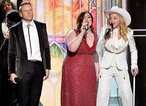 Madonna, Mary Lambert, and Macklemore perform