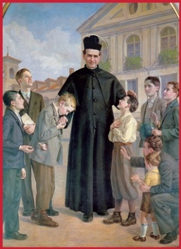 """""""Try very hard, young men, to imitate Jesus in His obedience. He should be your only model in this."""" St. John Bosco #SaintOfTheDay"""