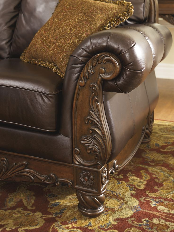Elegant Detailing On The Ashley HomeStore North Shore Sofa Part 86