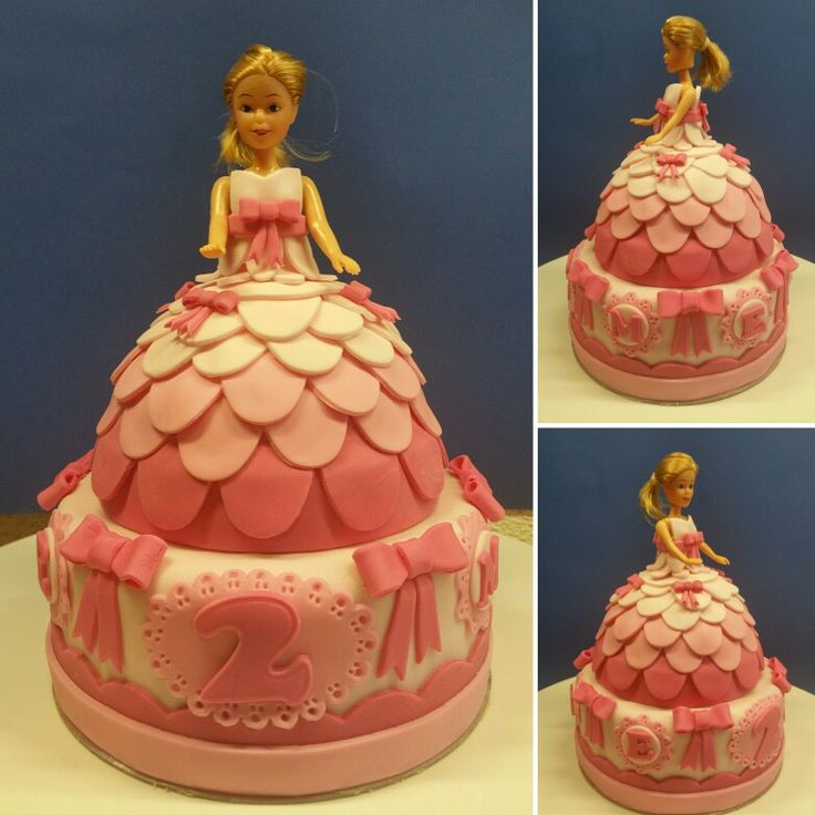 Pink princess  #prinses #princess #cake #taart #fondant #lactosefree #lactosevrij #wiltonminidoll #poppetje #doll #taartdecoratie #cakedecorating #pink #roze #birthdaycake #verjaardagstaart