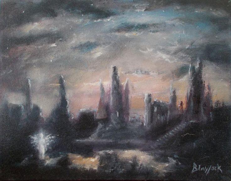 Lonely Angel Original Oil Painting By Johnny Lonzo Blaylock | EBay