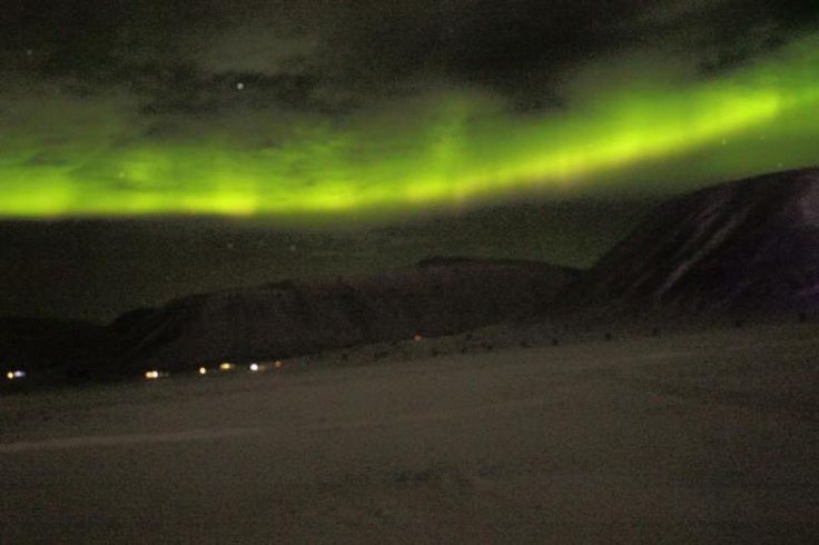 Nordlichter Aurora Borealis Longyearbyen Spitzbergen © Ines Erlacher und Thomas Mussbacher