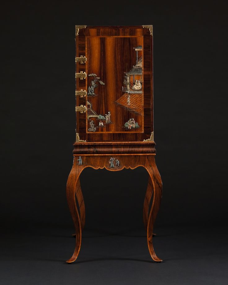 Side Panel Detail U2013 A RARE AND UNUSUAL ROSEWOOD AND HARDSTONE MOUNTED  CABINET ON STAND IN