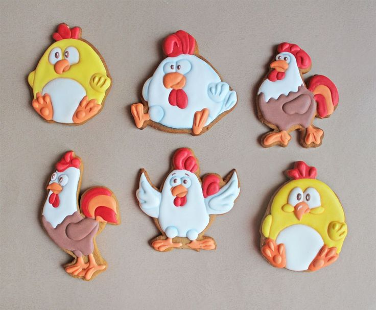 Новый год Рождество Пряник имбирный петух, петушок, цыпленок