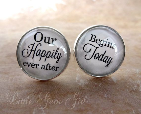 Groom Cuff Links  Fairy Tale Wedding Cuff Links  by LittleGemGirl