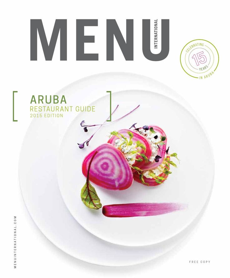 Menu International Restaurant Guide Aruba 2015