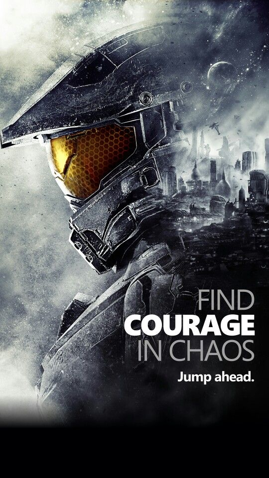 Master Chief  Find Courage In Chaos phone wallpaper