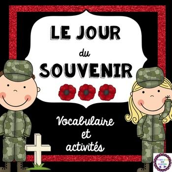 This activity pack includes 10 fun Remembrance Day activities!Included:-cover page for student booklet-vocabulary page-vocabulary word search-alphabetical order-word scramble-letter to a soldier-writing prompt (Je me souviens des soldats parce que)-soldier graphic organizer (Les soldats ont, sont, peuvent)-graphic organizer about peace (La paix est...)-Je me souviens...