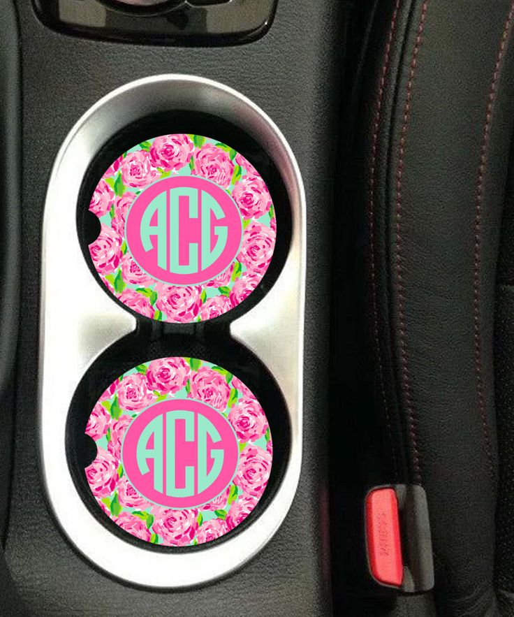Car Coaster Monogrammed,Personalized Car Coaster,Monogram Car Coaster,Lilly Pulitzer Inspired His Her Gifts Party Gifts Cup Holder Coaster by pcmonograms on Etsy https://www.etsy.com/listing/485230647/car-coaster-monogrammedpersonalized-car