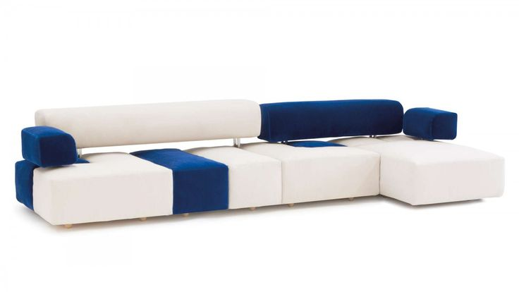 Domino is the archetype of the modular sofa: It develops on plywood bamboo modules that accommodate poufs of various sizes and supports for backrests and armrests. This system allows multiple combinations and total customization of the composition. In fact, once chosen the configuration, the seats can be revolved, moved and split, creating interesting variations on the theme. It is an interplay of shapes and colors that for its versatility adapts to any situation.