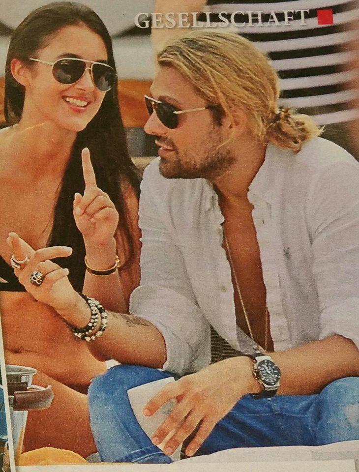 David and Bianca, a 20-year-old model from Munich, girlfriend of David Немецкий журнал Closer Augoust 2014 -33- Вып.