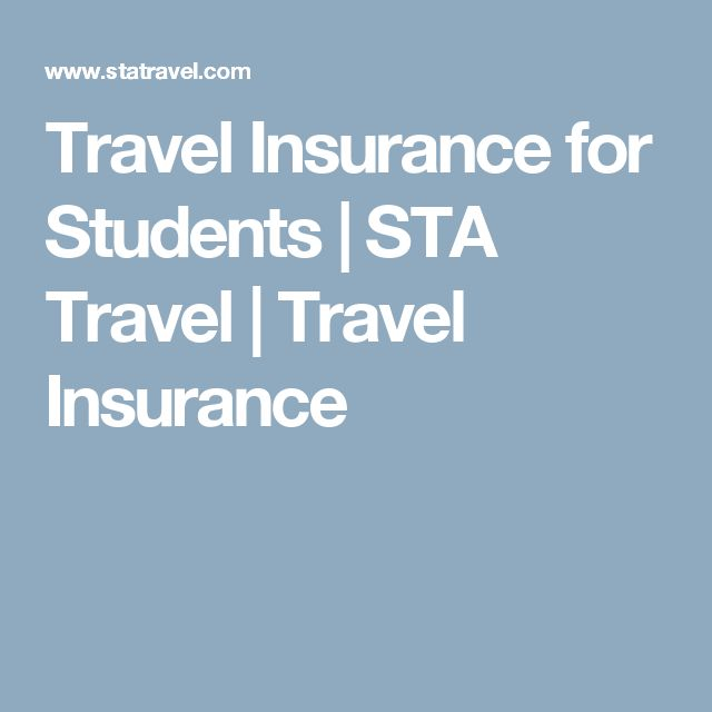 Travel Insurance for Students | STA Travel | Travel Insurance