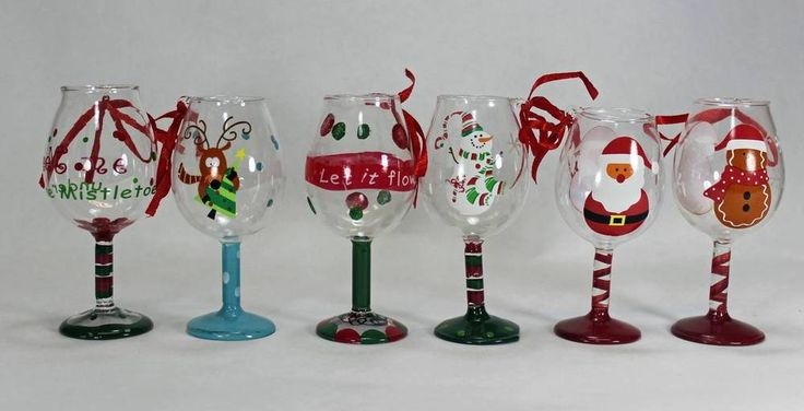 Crafts Painted Wine Glasses