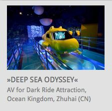 AV System Integration, Scenic Lighting for Dark Ride 'Deep Sea Odyssey' @ Chimelong Ocean Kingdom, Zhuhai (China) // www.kraftwerk.at