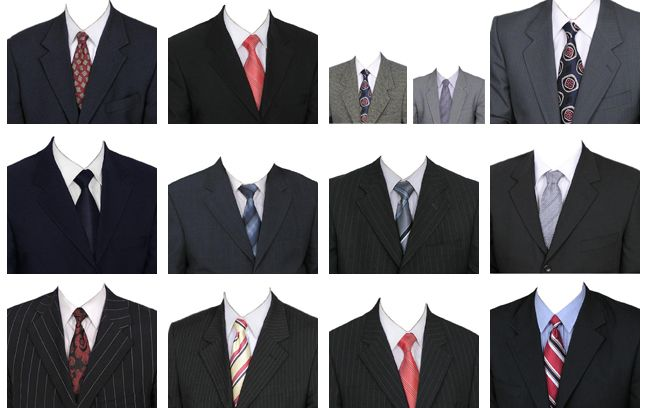 15 Мужские костюмы Photoshop Дизайн PSD изображения