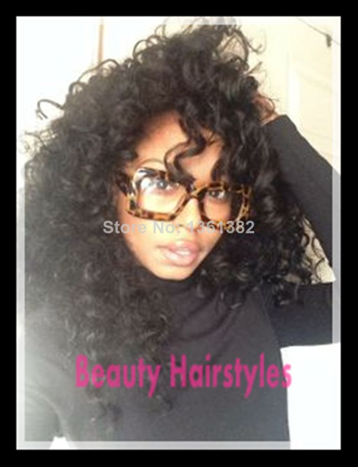 Nice Human Hair Kinky Curly Full Lace Wigs Unprocessed