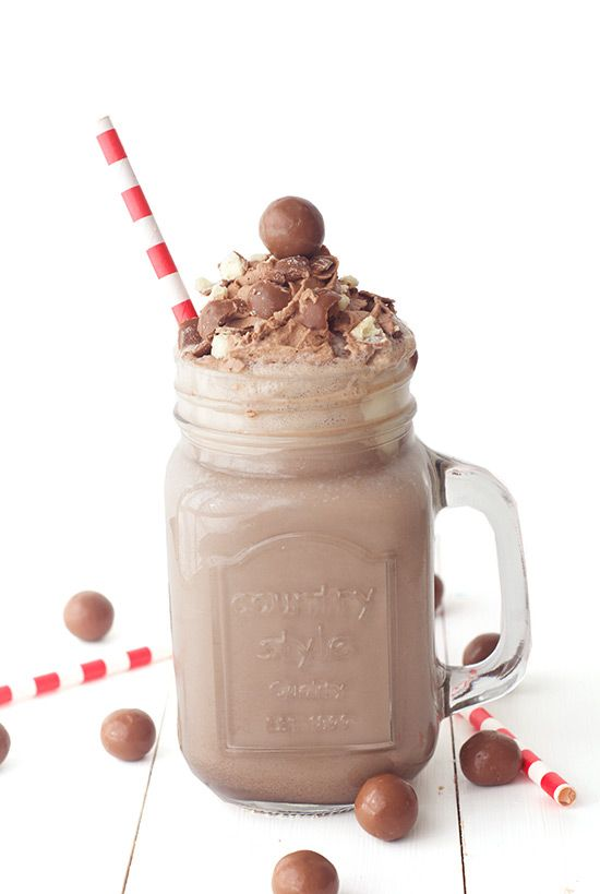 Chocolate Malt Milkshake - Love From The Oven