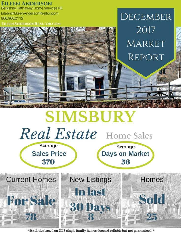 December Home Sales Real Estate Market Info for Avon, Simsbury, Granby, Farmington, Canton and West Hartford CT. New homes on market, how long it takes to sell a home and more! If you are buying or selling this year these this is a must read!