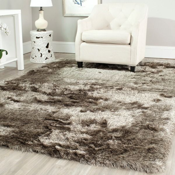 Safavieh Silken Sable Brown Shag Rug (8' x 10') - Overstock™ Shopping - Great Deals on Safavieh 7x9 - 10x14 Rugs