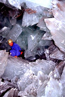 Caves of giant crystals in Mexico