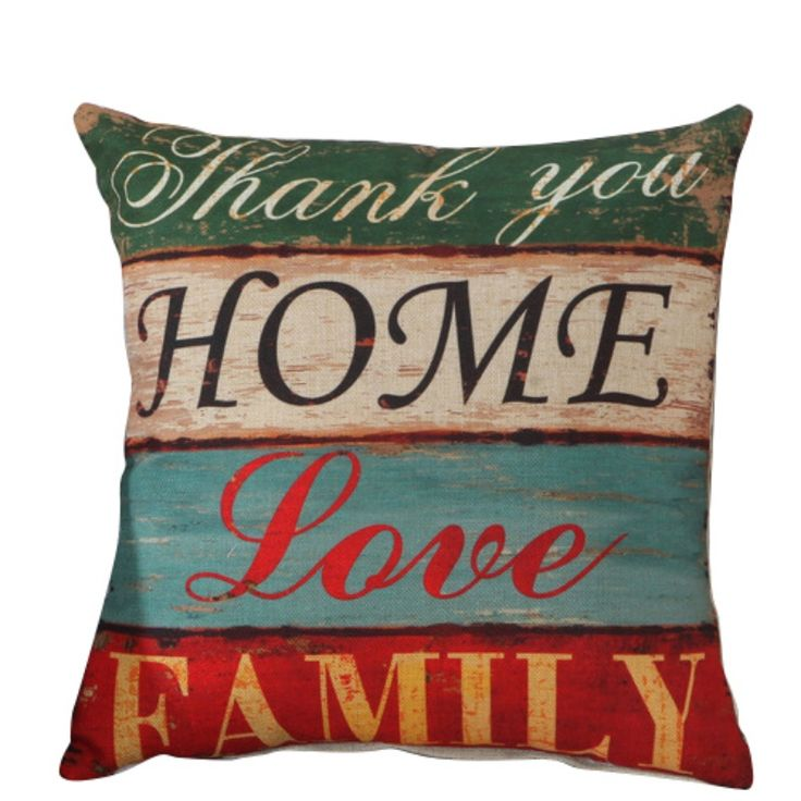 """6Style  Home Decorative Throw Pillowcases 18"""" Vintage Cotton Linen Square Pillow Case Cover-in Pillow Case from Home & Garden on Aliexpress.com 
