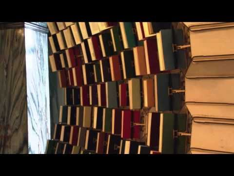 MOTION-SENSING BOOK SCULPTURE FOLLOWS LIBRARY PATRONS AS THEY ENTER