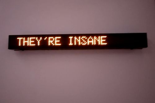 Jenny Holzer - They're insane. They're important.
