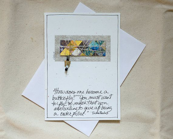 Encouragement CardHandmade CardButterfly by LittleBirdDePapel