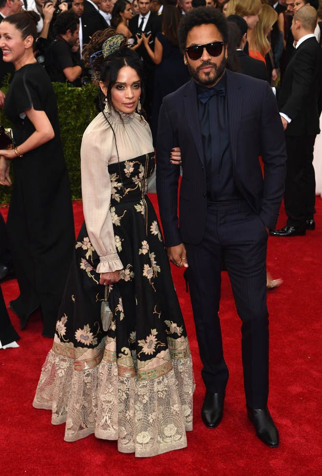 Lisa Bonet and Lenny Kravitz at the 2015 MET Gala|Lainey Gossip Entertainment Update