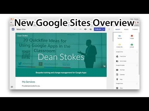 New Google Sites - Short Overview - YouTube