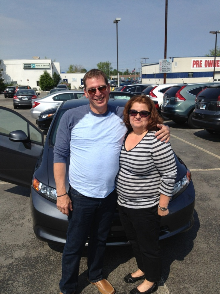The Harris's and their new Honda. Thanks from Berlin City Honda.