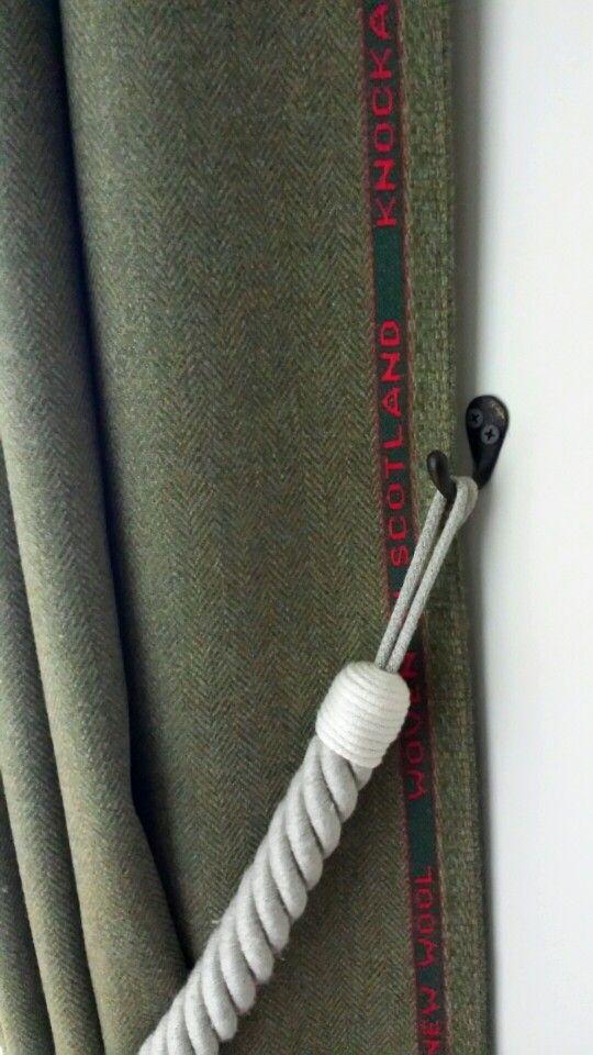 Highland Door Curtain designed by Glenarder Knockando Woolen Mill. Strathspey Tweed Collection - Ben Rinnes' design.