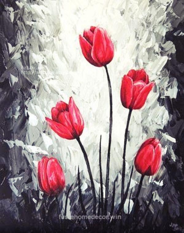 Cartoon Art Oil Painting Print On Modern Canvas Home Decor The Rose Lady