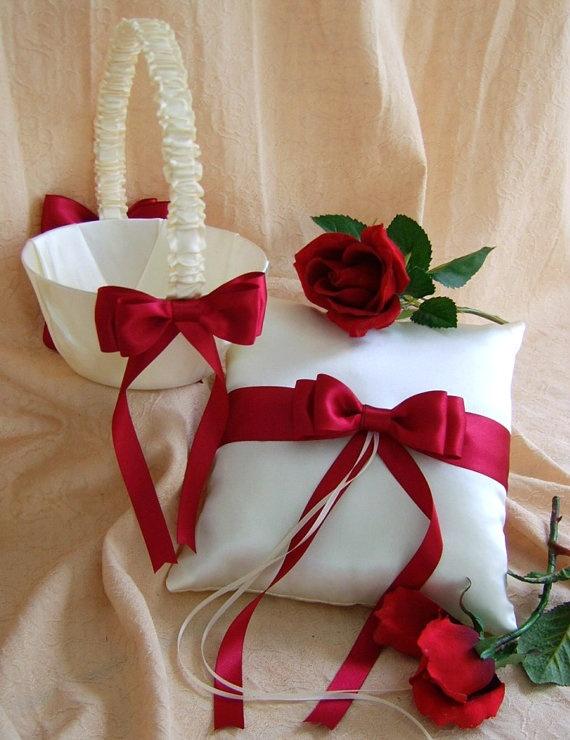 157 best wedding kidsaccessories images on pinterest flower girl red white wedding flower girl basket and ring mightylinksfo
