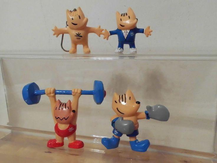 Olympia Olympische Spiele Maskottchen Cobi Barcelona 4 x Figur (Boxer,Gewichtheb  | eBay