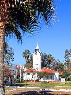 Mersin Feneri (The Mersin Lighthouse) is located at the Mediterranean coast in the city of Mersin, Turkey.