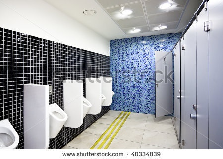 Floor Tile Relates To Where Men Stand, Relates To Wall Tile And Ceiling  Lighting?