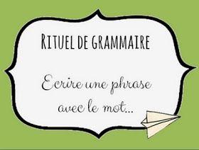 CM2 Grammaire : Variantes pour la phrase du jour