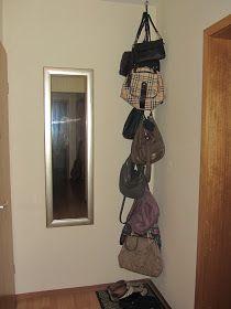 Taschenaufbewahrung Aufbewahrung Tasche Garderobe Kette DIY selber machen Wohnen Dekorieren Einrichten Möbel Regal