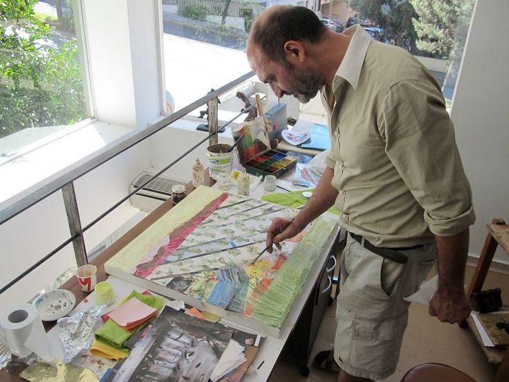 Artist Nikolaos A. Houtos, On His Loft Studio ,athens