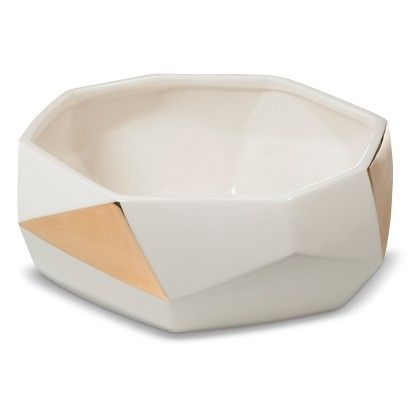 Target - Nate Berkus Faceted Gold Detail Bowl: