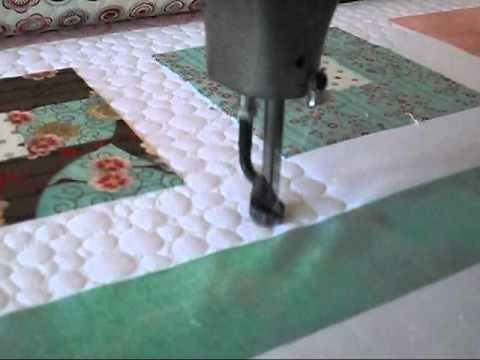 machine quilting pebbles video