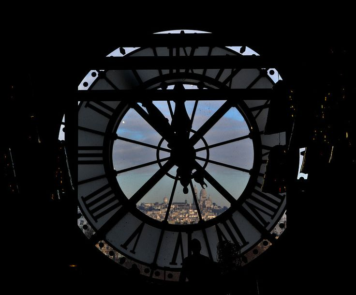 Photo of Sacre Coeur, in Paris, taken in the museum Orsay. Musée d'Orsay.