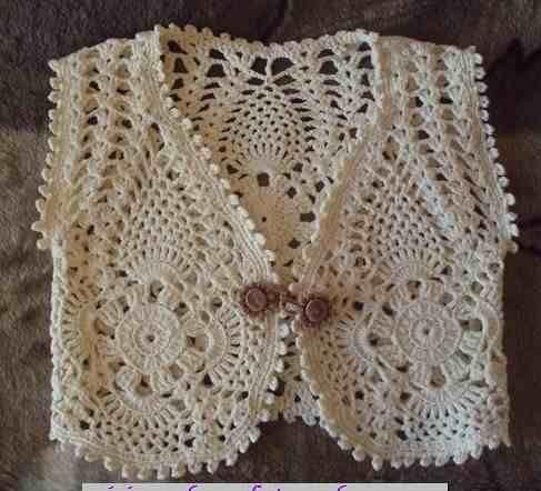 Como hacer un bolero de niña a crochet - Imagui
