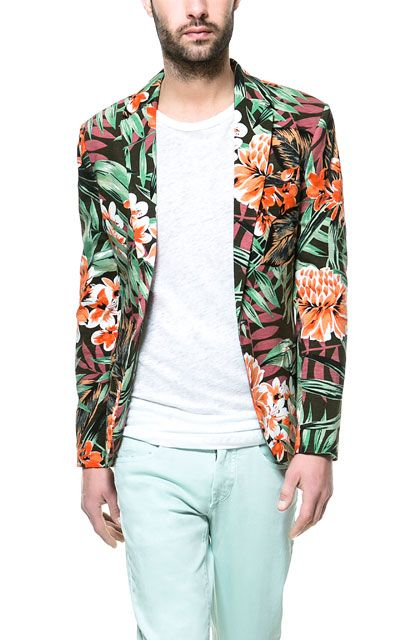 Image 2 of FLORAL BLAZER from Zara